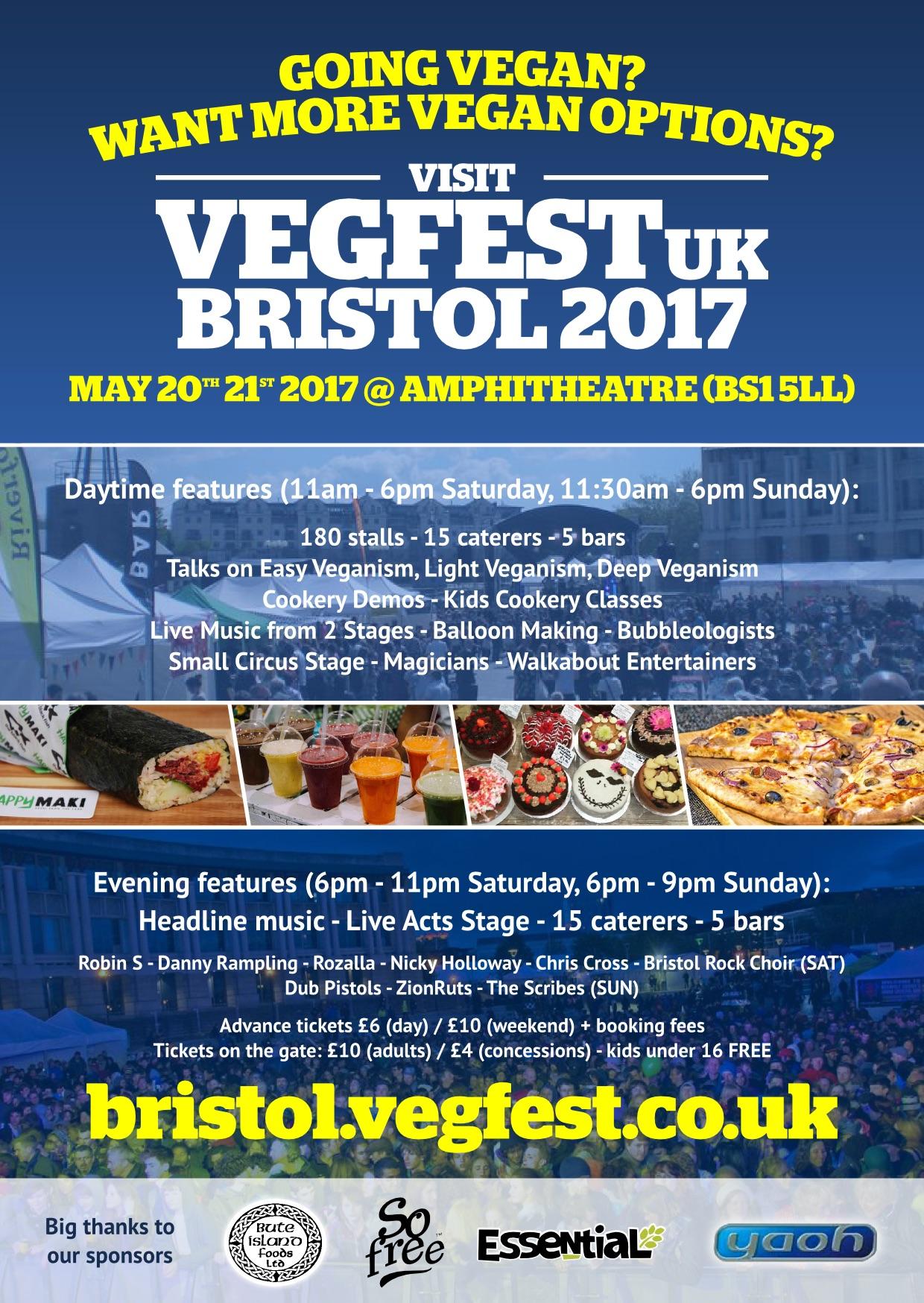 Bristol Vegfest 2017 Postger