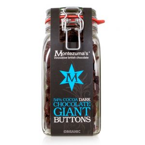 Montezuma's Organic Dark Chocolate Giant Button Jar