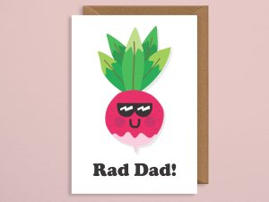 Rad Dad Vegan Father's Day Card