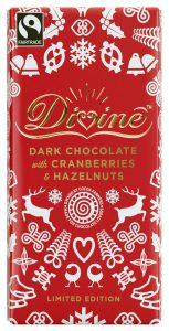 Divine Limited Edition Dark Chocolate with Cranberries Hazelnuts