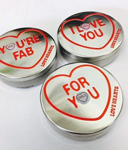 Love Hearts Minis Valentines Tin