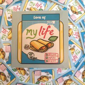 Love Of My Life - Vegan Violife Card