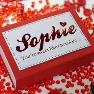 Personalised Mini Vegan Valentines Chocolate Box