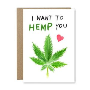 VEGAN LOVE BUG Greeting Card Range I Want to Hemp You