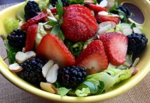 Fresh Berry Salad with Raspberry Dressing