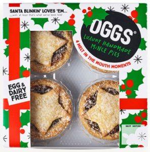 Oggs Luxury Handmade Mince Pies x4 184g
