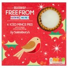 Sainsbury's Deliciously Free From Iced Mince Pies x4 225g