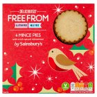 Sainsbury's Deliciously Free From Mince Pies x4 230g