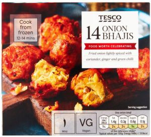 Tesco 14 Onion Bhajis 210g