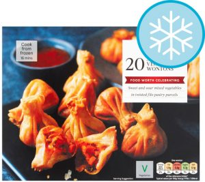 Tesco 20 Sweet & Sour Vegetable Wontons 300g