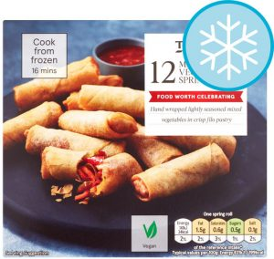 Tesco Mini Vegetable Spring Rolls 216g