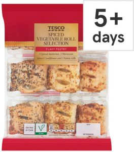 Tesco Spiced Vegetable Rolls Selection 9Pk 270g