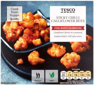 Tesco Sticky Chilli Cauliflower Bites 220g