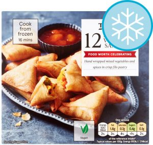 Tesco Vegetable Samosas 216g