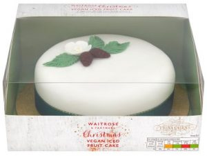 Waitrose Christmas Vegan Iced Fruit Cake 960g