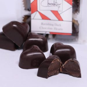Vegan Chocolatier Vegan Ravishing Dark Chocolate Valentine Heart Truffles