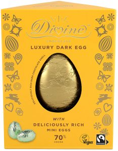 Divine Luxury 70% Dark Chocolate Easter Egg with Dark Mini Easter Eggs