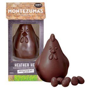 Montezumas Absolute Black Heather Hen with Mini Eggs