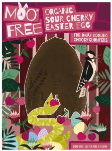 Moo Free Organic Vegan Sour Cherry Easter Egg 140g