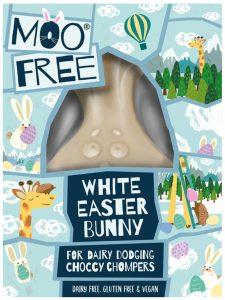 Moo Free White Chocolate Easter Bunny 80g