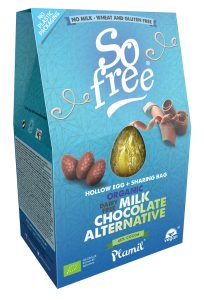 Plamil Dairy Free Milk Chocolate Alternative Easter Egg with Sharing Bag