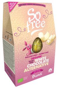 Plamil So Free White Chocolate Easter Egg with Bunny Bar