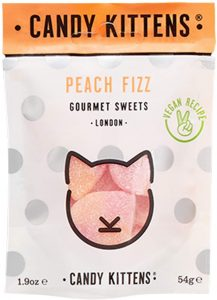 Candy Kittens Peach Fizz Vegan Sweets 54g