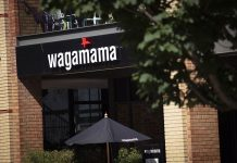 Wagamama Restaurant and Sign