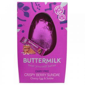 Buttermilk Crispy Berry Sundae Choccy Egg and Soldier Bar 165g