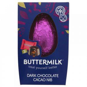 Buttermilk Dark Chocolate Cacao Nib Sea Salt Egg Salted Caramel Duos 224g