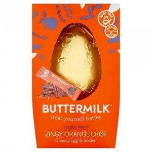 Buttermilk Zingy Orange Crisp Choccy Egg Soldier 165g