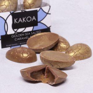 KAKOA Vegan Golden Caramel Milk Chocolate Truffle Easter Eggs