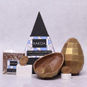 KAKOA Vegan Iconic Chocolate Caramel Easter Egg