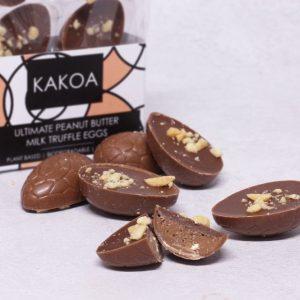 KAKOA Vegan Ultimate Peanut Butter Milk Chocolate Truffle Easter Eggs
